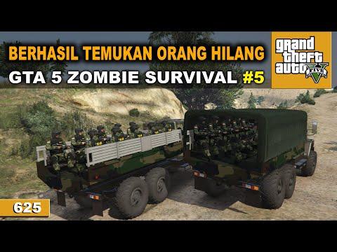 TNI BERHASIL SELAMATKAN SANDERA   GTA 5 MOD ZOMBIE SURVIVAL #625