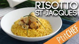Recette de risotto de Saint-Jacques au safran - Ptitchef.com