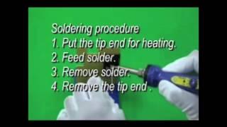 HAKKO FX-600; soldering procedure for terminal