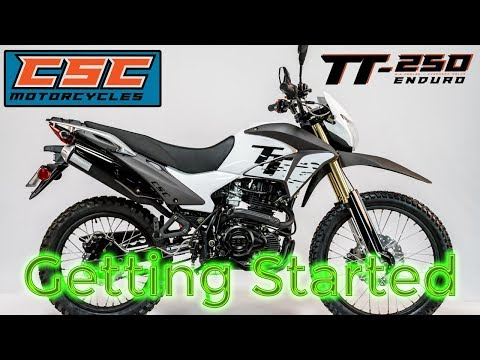 CSC TT250 Getting Started