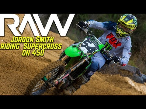 Jordon Smith riding KX450 on Daytona style Supercross track - Motocross Action Magazine