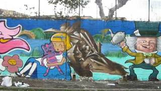graffiti writing sicily wall spray catania