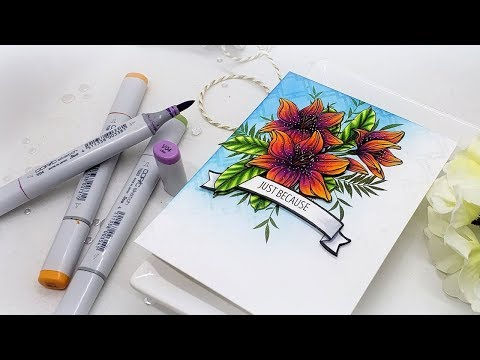 Copics & Colored Pencils w/Kelly ft. SYMPATHY LILIES