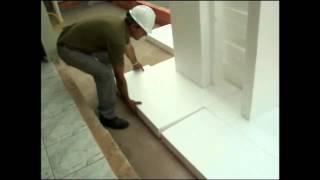 Elevando piso com placa de isopor www.polisopor.com.br 41158464 ou 55122050