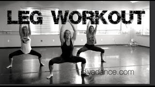 "LEG WORKOUT:  ""Get Low"" by Dillion Francis & DJ Snake. DiVA Dance Fitness."