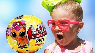 Diana Little Mommy Pretend play with LOL Surprise for kids video
