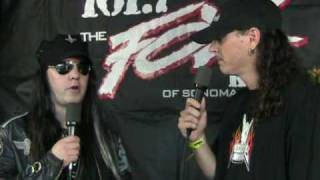 Joey Jordison drummer for Rob Zombie on 101.7 The Fox