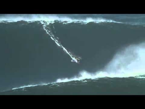 Garret McNamara rides the world's largest wave of 100 feets.[AMAZING].