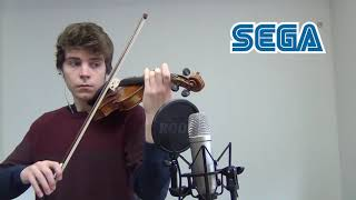 Video game console sounds on violin