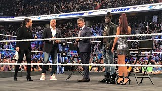 WWE Truth TV Stephanie mcmahon Shane McMahon Carmella Smackdown 10/16/2018 1000th Episode