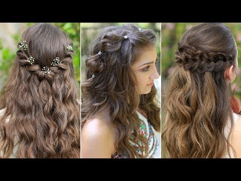 3 Easy Boho PROM Hairstyles | Half Up Hairstyles Compilation 2019