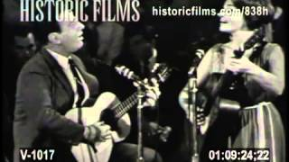 JUDY COLLINS & THEODORE BIKEL - Kisses Sweater Than Wine 1963 from HOOTENANNY