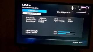 DSTV Satelite Dish Signal Troubleshooting