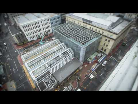 City Rail Link time lapse: Temporary Britomart entrance
