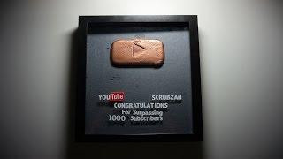 DIY Youtube Play Button | Bronze 1000 Subscriber Play Button