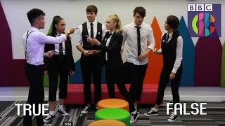 Disney's The Lodge cast play 'Believe That?' | Blue Peter | CBBC