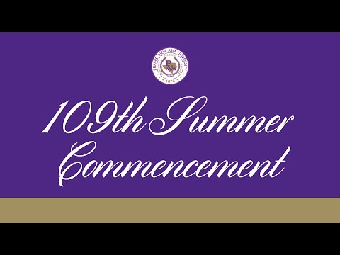 109th Summer Commencement Convocation