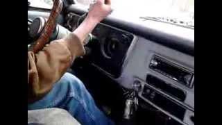 Aaron driving Ol' Green