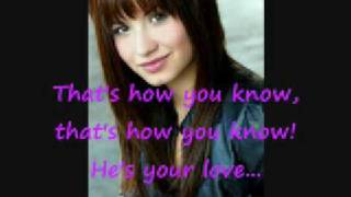 Demi Lovato - Thats How You Know [Lyrics] HQ