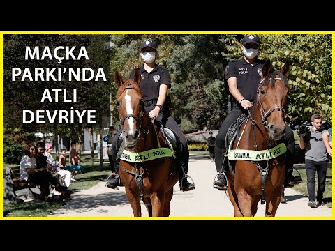 Atlı Polislerden Maçka Demokrasi Parkı'nda Denetim