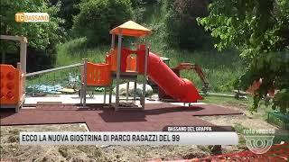TG BASSANO (08/05/2018) - ECCO LA NUOVA GIOSTRINA DI PARCO RAGAZZI DEL 99