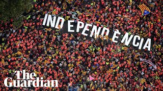 Million mark Catalan national day by calling for independence