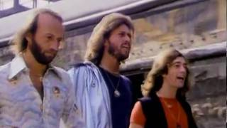 Bee Gees - Stayin' Alive [HQ 1rst Version Music Video 1977] (NO FAKE HQ) + LYRICS
