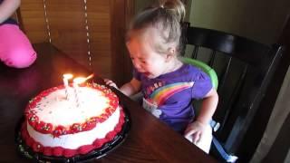 Happy birthday crying