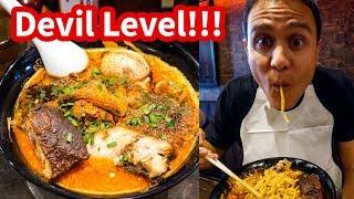 THE SPICIEST RAMEN in Tokyo at Karashibi Kikanbo - DEVIL LEVEL Japanese Food! width=