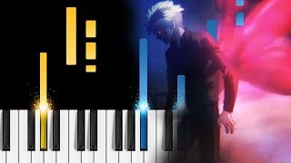 Tokyo Ghoul:re OP - asphyxia - Piano Tutorial / Piano Cover - Tokyo Ghoul Season 3 Opening