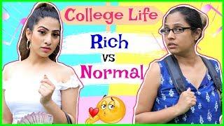 College Life - RICH vs NORMAL | #Fun #Sketch #RolePlay #Anaysa #ShrutiArjunAnand