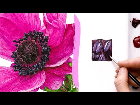 How to paint a 3D flower centre in watercolour
