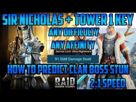 Sir Nicholas+Tower Unkillable 1 Key Any Affinity/Difficulty I Raid Shadow Legends