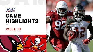 Cardinals vs. Buccaneers Week 10 Highlights   NFL 2019