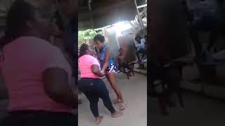 Two prostitute ladies fight dirty in the public width=