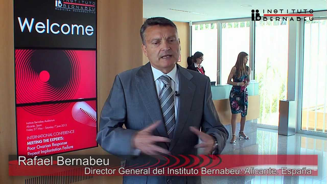 INTERNATIONAL CONFERENCE, MEETING THE EXPERTS: Rafael Bernabeu. General Director of Instituto Bernabeu. Conclusions Meeting the Experts.