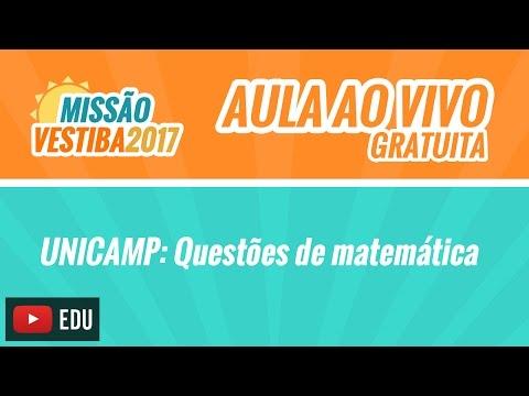UNICAMP | Questões de Matemática