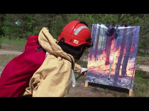 """15 огнеборцев со всей Республики поборолись за звание """"Лучшего лесного пожарного""""."""