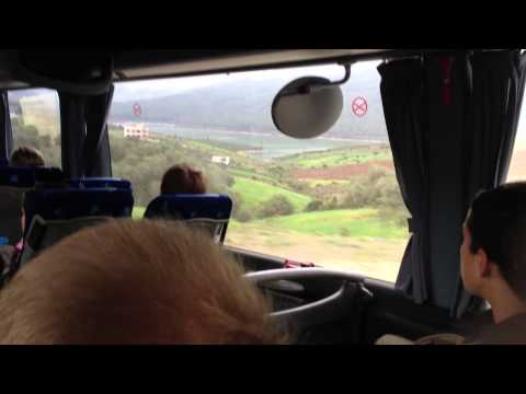 Bus ride between Tangier and Chaouen in Morocco