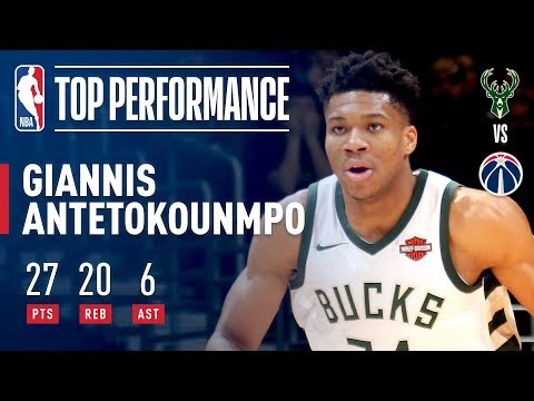 Giannis Antetokounmpo Goes OFF for 27 & 20 vs Wizards | January 15, 2018