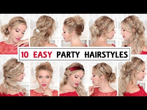 10 EASY PROM/WEDDING party HAIRSTYLES for short, medium and long hair