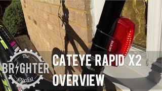 Cateye Rapid X2 rear commuter bikelight overview
