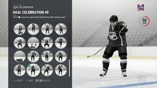 NHL 17 JUST GOT 11 AMAZING NEW CELEBRATIONS!