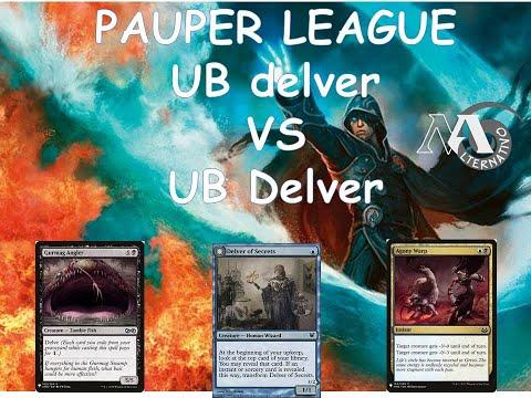 Pauper League R2 UB delver Vs UB delver