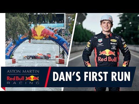 Red Bull Junior Dan Ticktum's First Live Demo in Copenhagen, Denmark