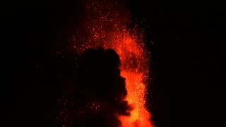 Raw: Lava Shoots From Philippines Volcano