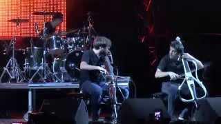 2CELLOS  - Thunderstruck ( AC/DC )- ( Athens Greece 15-7-2014 )