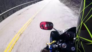 Yamaha R6 riding backroads