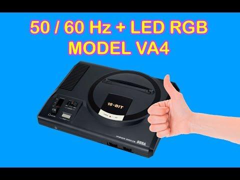 MEGADRIVE VA4 50/60Hz + REGION MOD + LED