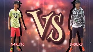 Duelo de passinho - NARUTO VS SASUKE